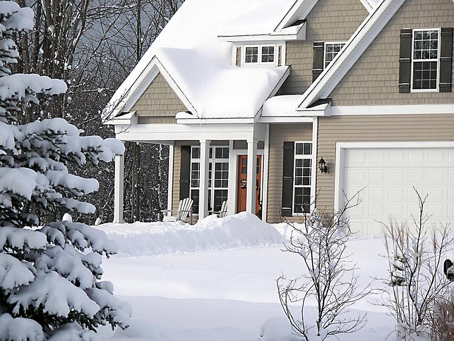 bigstock-Winter-Home-2576021